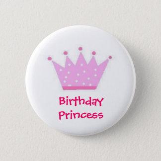 Birthday princee (Polka Dot) Button