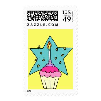Birthday Princess Cupcake Postage