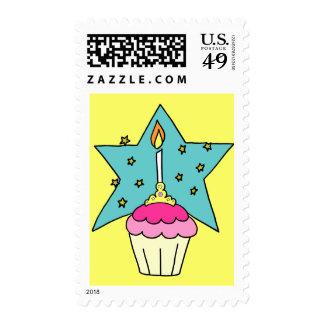Birthday Princess Cupcake Stamp