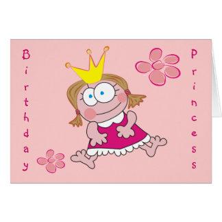 Birthday Princess Cute Girly Pink Greeting Cards