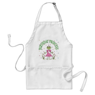 Birthday Princess Frog Adult Apron