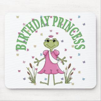Birthday Princess Frog Mouse Pads