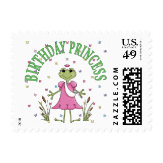 Birthday Princess Frog Postage