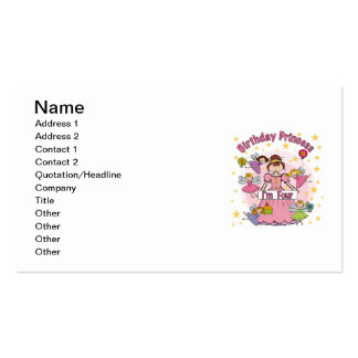 Birthday Princess I'm Four T-shirts and Gifts Business Card