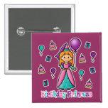 Birthday Princess Pinback Button