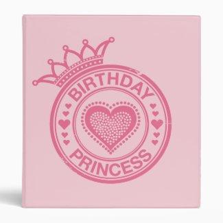 Birthday Princess - Pink - 3 Ring Binder
