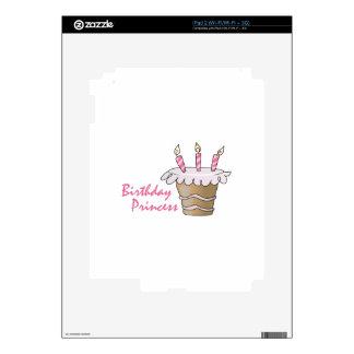 BIRTHDAY PRINCESS iPad 2 SKINS