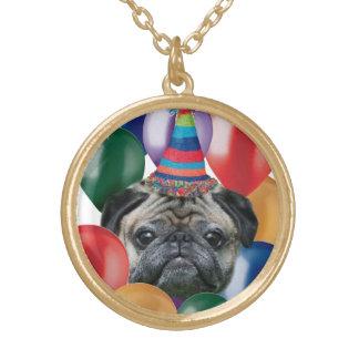 Birthday pug necklace