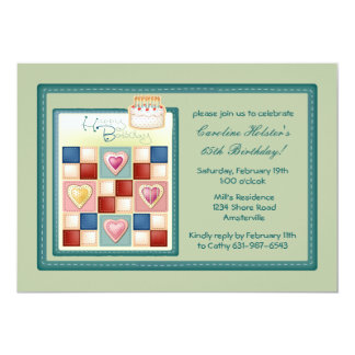 Birthday Quilt Invitation