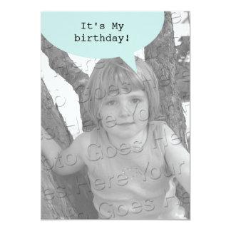 Birthday Quote Bubble Invitations