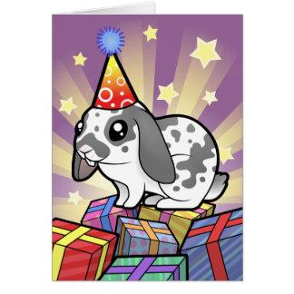 Birthday Rabbit (floppy ear smooth hair) Card
