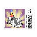 Birthday Rabbit (floppy ear smooth hair) Stamp