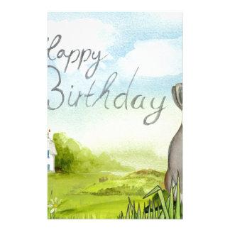 Birthday Rabbit Stationery