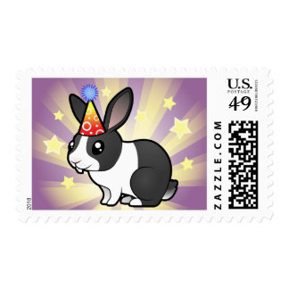 Birthday Rabbit (uppy ear smooth hair) Stamps