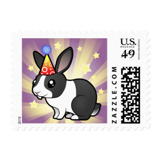 Birthday Rabbit (uppy ear smooth hair) Postage