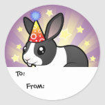 Birthday Rabbit (uppy ear smooth hair) Stickers