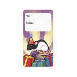 Birthday Rat Gift Tags Address Label