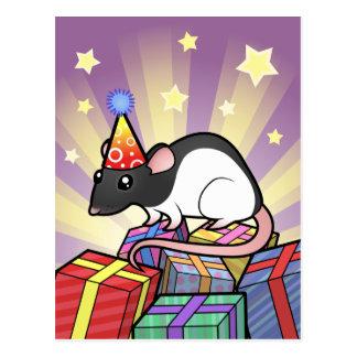 Birthday Rat Postcard