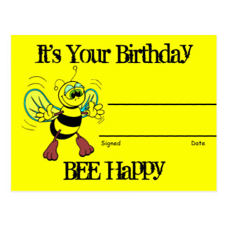 Birthday Recognition Award Postcard