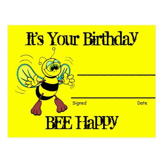 Birthday Recognition Award Postcard