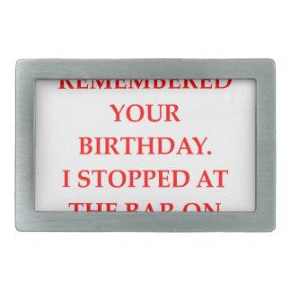 birthday rectangular belt buckle