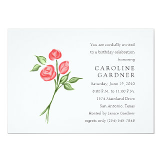 Birthday Red Roses Card