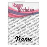 Birthday Ribbon Greeting Card