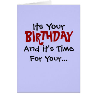 Birthday Robotomy Card