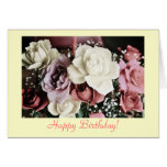Birthday rose bouquet card