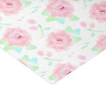 Birthday Roses Romantic Retro Floral Tissue Paper