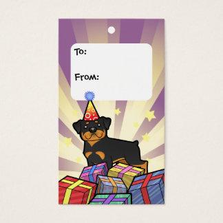 Birthday Rottweiler Gift Tags