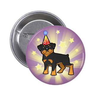 Birthday Rottweiler Pinback Button