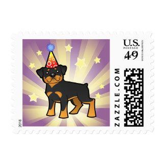 Birthday Rottweiler Postage