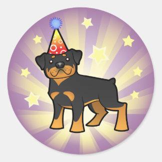 Birthday Rottweiler Classic Round Sticker