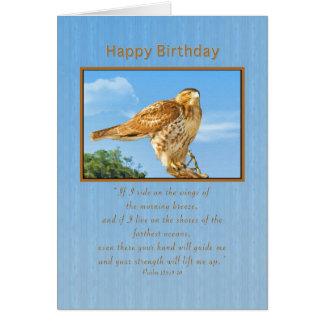 Birthday,  Rough-legged Hawk Greeting Card