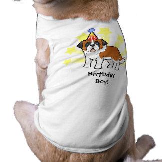 Birthday Saint Bernard Pet T-shirt