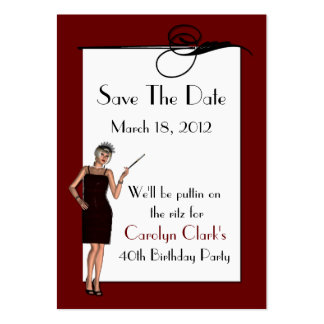 Birthday Save the Date Cards Large Business Cards (Pack Of 100)