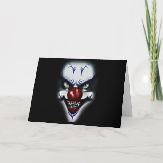 Birthday Scary Clown Card