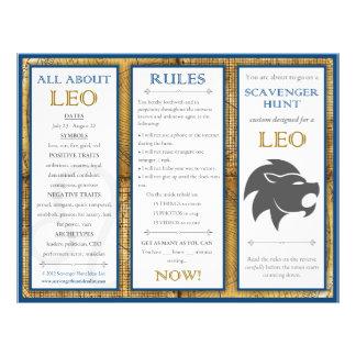 Birthday Scavenger Hunt List: Zodiac Leo Flyer