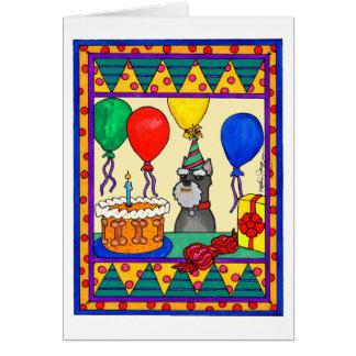 BIRTHDAY SCHNAUZER GREETING CARDS