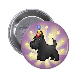 Birthday Scottish Terrier Pinback Buttons