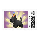 Birthday Scottish Terrier Postage Stamps