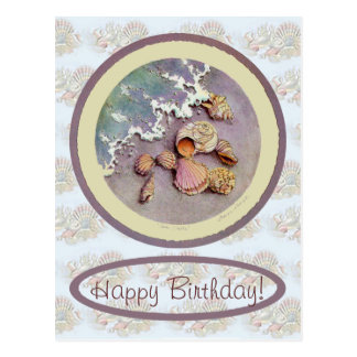 BIRTHDAY SEASHELLS by SHARON SHARPE Postcard