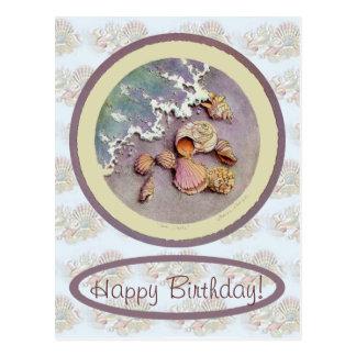 BIRTHDAY SEASHELLS by SHARON SHARPE Postcard