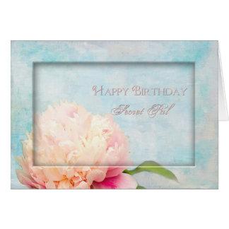 Birthday Secret Pal - Peony - floral Card
