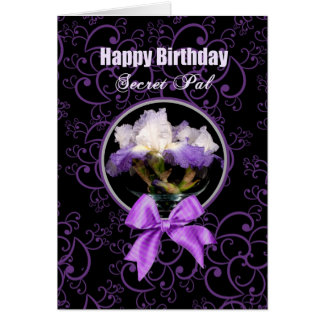 Birthday - Secret Pal - Purple Iris Magic Card