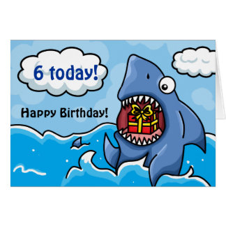 Birthday Shark Card