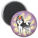 Birthday Siberian Husky / Alaskan Malamute Magnets
