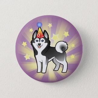 Birthday Siberian Husky / Alaskan Malamute Pinback Button