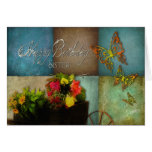 BIRTHDAY - SISTER - COUNTRY FLOWERS GREETING CARD